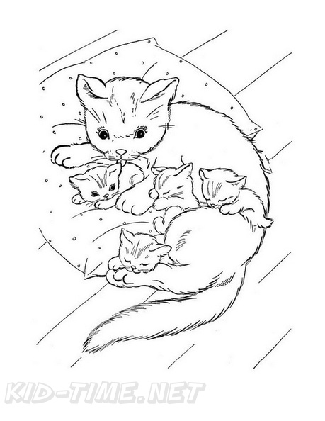 Coloring a Fluffy Kitty Cat Coloring Book Page Crayola Crayons ... | 594x459