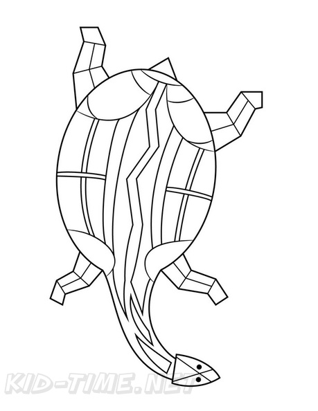 Aboriginal Animal Turtle Drawings Coloring Book Page Free Coloring