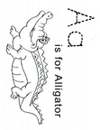 Alligator Coloring Book Page