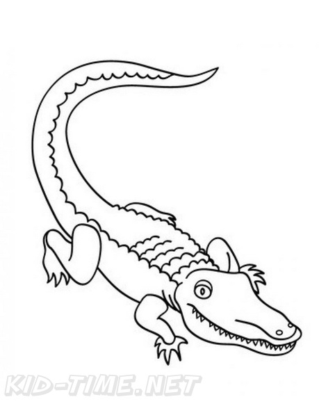 Alligator Coloring Book Page Free Coloring Book Pages Printables