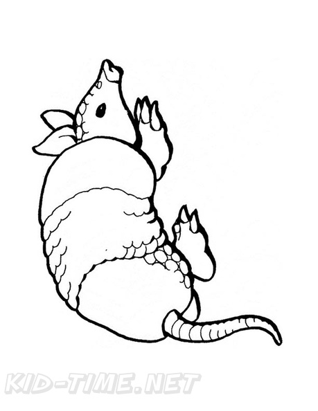 Armadillo Coloring Book Page Free Coloring Book Pages Printables