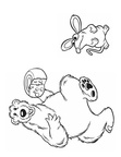Brown Bear Coloring Book Page