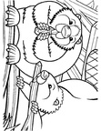 Beaver Coloring Book Page
