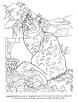 American Curl Cat Breed Coloring Book Page