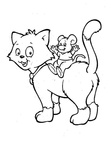 Cat Coloring Book Page