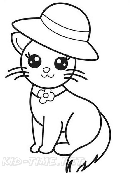 - Cute Cat Coloring Book Page Free Coloring Book Pages Printables