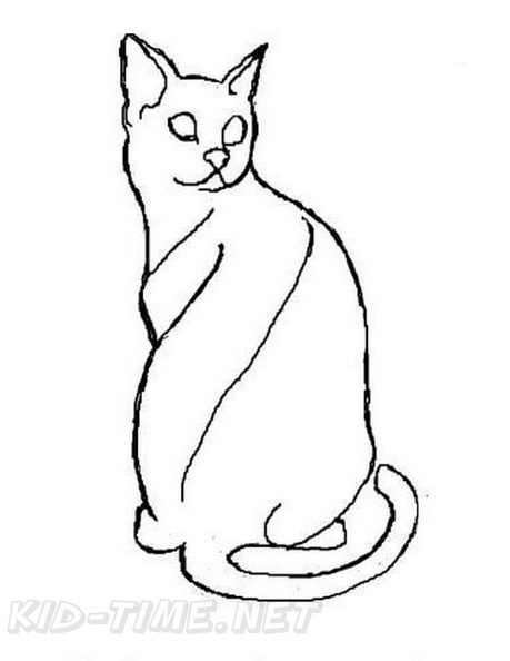 Egyptian Mau Cat Breed Coloring Book Page Free Coloring Book