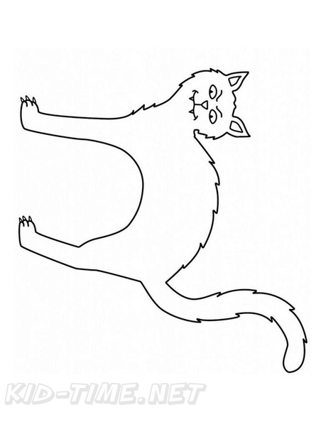 Halloween Cats | Free Printable Templates & Coloring Pages ... | 594x459