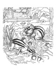 Chipmunk Coloring Book Page