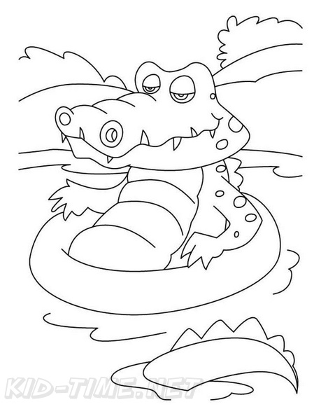 Crocodile coloring page - Animals Town - animals color sheet ...   594x459