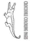 Crocodile Coloring Book Page