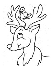 Deer Coloring Pages 009