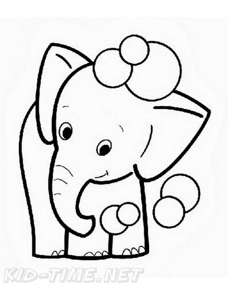 Baby Elephant Coloring Book Page Free Coloring Book Pages Printables