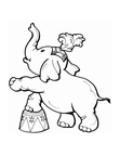 Circus Elephant Coloring Book Page