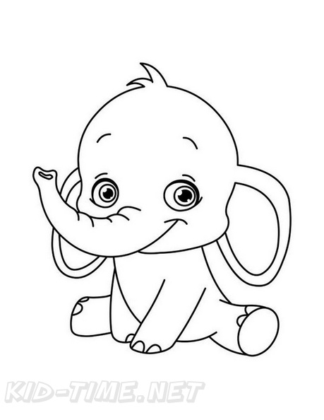 cute elephant coloring book page free coloring book pages printables