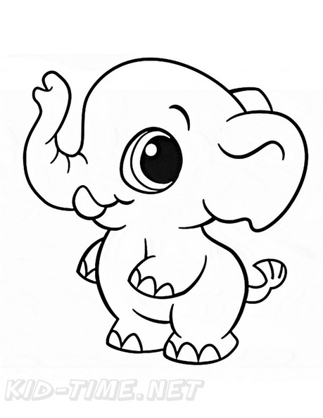 Elephnt Coloring Book Cute