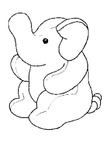 Simple Elephant Toddler Coloring Book Page