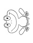 Cute Frog Coloring Book Page