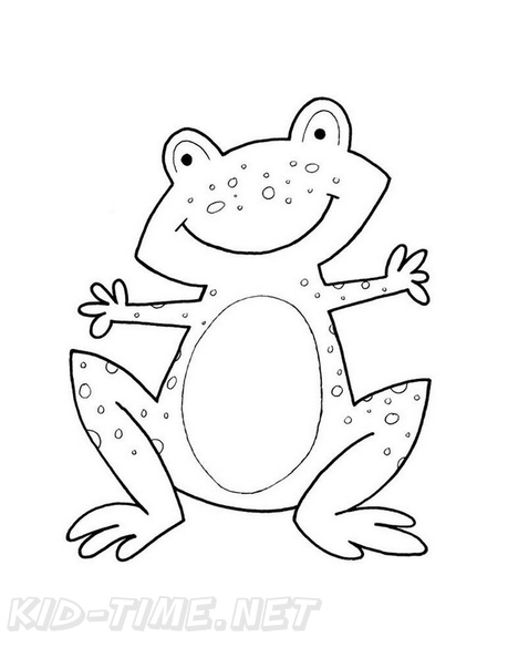 Coloring Book Drawings Of Frogs