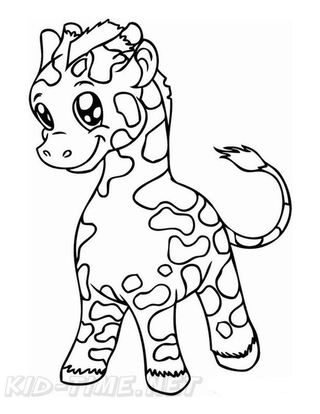 Baby Giraffe Coloring Book Pages Free Coloring Book Pages