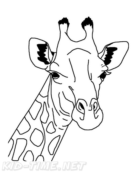 Giraffe Coloring Book Page Free Coloring Book Pages Printables