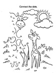 Giraffe Craft and Activities Coloring Book Pages