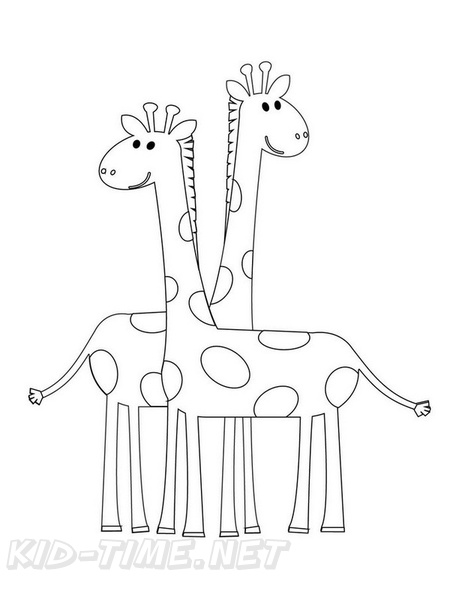 Simple Giraffe Toddler Coloring Book Page Free Coloring Book Pages