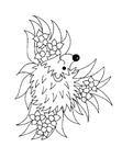 Hedgehog Coloring Book Page