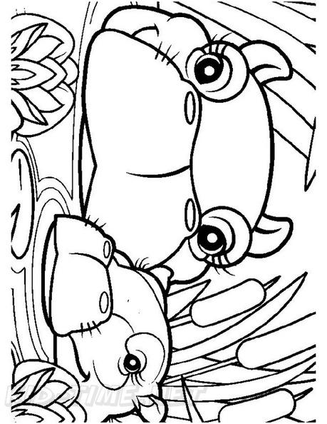 Free Printable Hippo Coloring Pages For Kids | Hippo crafts ... | 594x459