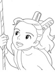 The Borrower Arrietty Coloring Book Page