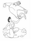 Aladdin Coloring Book Page
