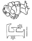 F Frog Animal Alphabet Coloring Book Page