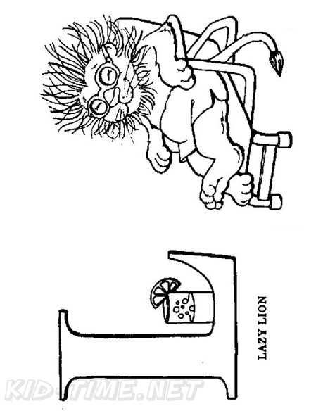L Lion Animal Alphabet Coloring Book Page Free Coloring Book Pages Printables