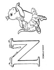 N Newt Animal Alphabet Coloring Book Page