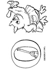O Owl Animal Alphabet Coloring Book Page