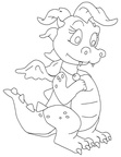 Dragon Coloring Book Page