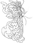 Fairy Fairies Coloring Book Page