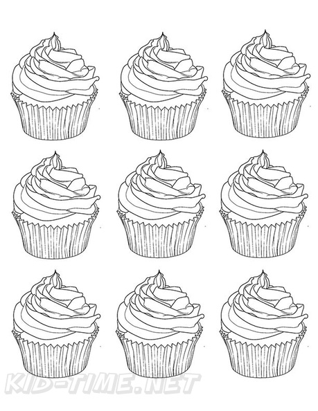 - Cakes / Cupcake Coloring Book Page Free Coloring Book Pages Printables