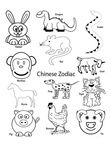 Chinese New Year Coloring Book Page