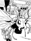 Ant Man Coloring Book Page
