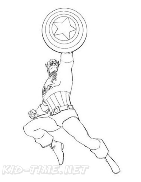 Captain America Coloring Book Page Free Coloring Book Pages Printables