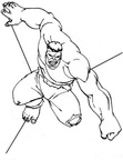 The Hulk Coloring Book Page