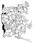 Ninja Turtles Coloring Book Page
