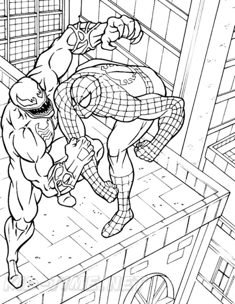 Spiderman Coloring Pages Venom 044 Free Coloring Book Pages Printables