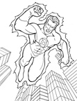Super Hero Coloring Book Page