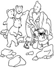 Adventures of Tintin Coloring Book Page