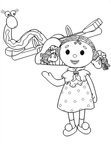 Andy Pandy Coloring Book Page