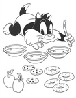 Baby Looney Tunes Coloring Book Page