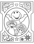 Barney Coloring Book Page