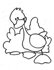 Duck Basic Shapes Toddler Beginner Coloring Book Page